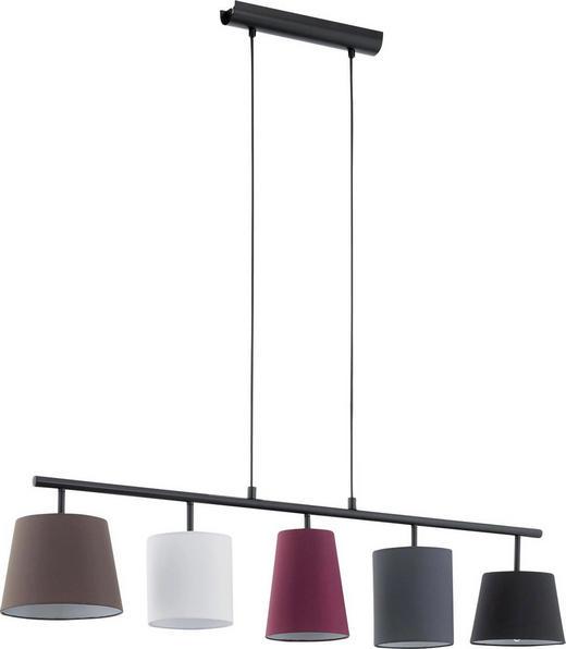 HÄNGELEUCHTE - Multicolor/Schwarz, KONVENTIONELL, Textil/Metall (105/20/110cm)