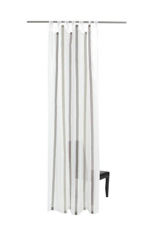 SCHLAUFENSCHAL  transparent  145/255 cm - Creme/Braun, Design, Textil (145/255cm)