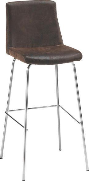 BARPALL - brun/kromfärg, Design, metall/textil (40/108/44cm) - Carryhome
