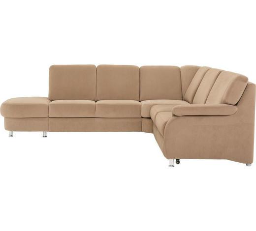 WOHNLANDSCHAFT in Textil Braun  - Alufarben/Braun, KONVENTIONELL, Textil/Metall (287/269cm) - Beldomo System