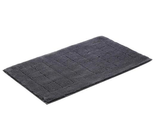 BADEMATTE in Dunkelgrau 60/100 cm  - Dunkelgrau, Basics, Kunststoff/Textil (60/100cm) - Vossen