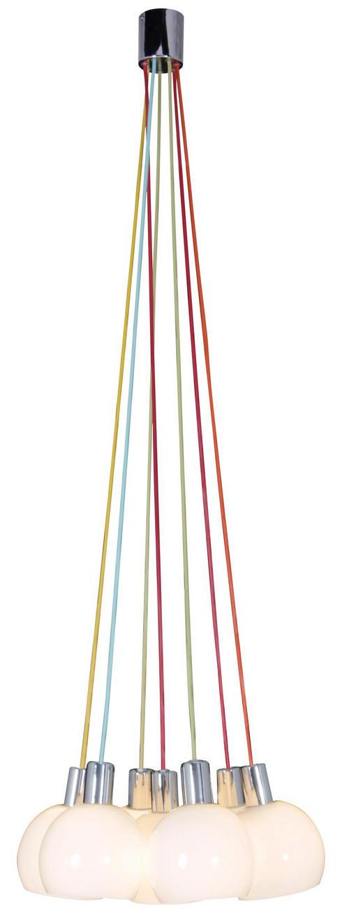 HÄNGELEUCHTE - Chromfarben/Multicolor, LIFESTYLE, Glas/Metall (120cm)
