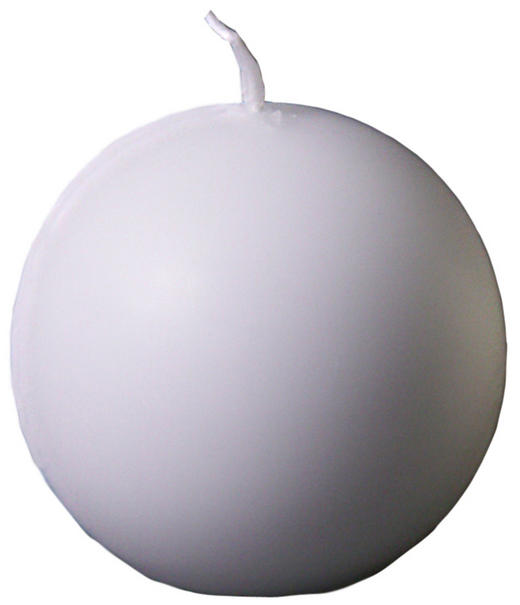 KUGELKERZE 9 cm - Weiß, Basics (9cm)