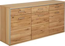 SIDEBOARD Eiche massiv geölt Eichefarben - Eichefarben, Basics, Holz/Metall (184/89/45cm) - Cantus