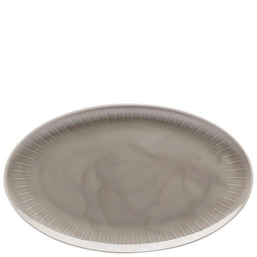TELLER Keramik Porzellan - Grau, Basics, Keramik (38/33cm)