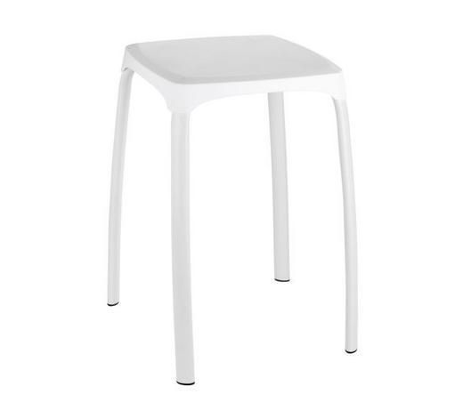 BADHOCKER Metall, Kunststoff - Alufarben/Weiß, Basics, Kunststoff/Metall (29/29/46cm)