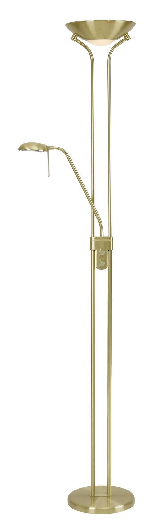 STEHLEUCHTE - Messingfarben, KONVENTIONELL, Glas/Metall (25,5/180cm) - Boxxx