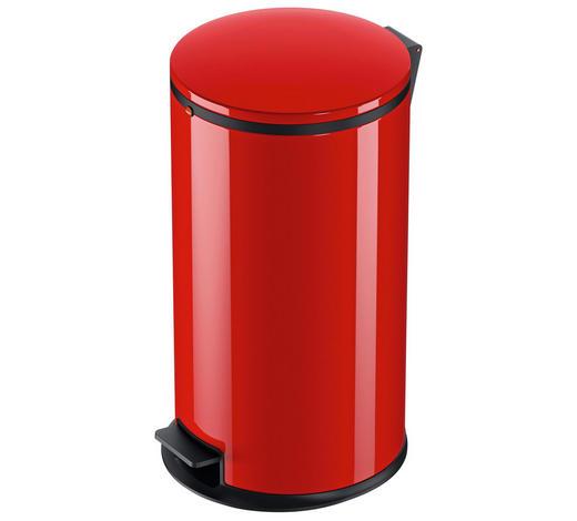 ABFALLSAMMLER 25 L - Rot/Schwarz, Basics, Kunststoff/Metall (25l) - Hailo