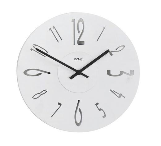 WANDUHR 29,5 cm - Weiß, Design, Holz (29,5cm)