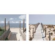 Strand & Meer GLASBILD - Multicolor, Design, Glas (40/20/1,7cm) - Eurographics
