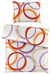 BETTWÄSCHE 140/200 cm  - Weiß/Kupferfarben, KONVENTIONELL, Textil (140/200cm) - Boxxx
