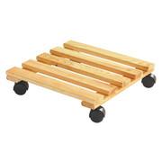 PFLANZENROLLER Holz   KONVENTIONELL, Holz/Kunststoff (35/5/35cm)