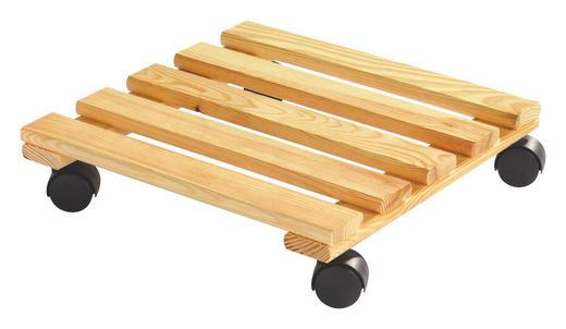 PFLANZENROLLER Holz - KONVENTIONELL, Holz/Kunststoff (35/5/35cm) - CARRYHOME