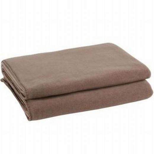 WOHNDECKE 160/200 cm Schlammfarben - Schlammfarben, Textil (160/200cm) - ZOEPPRITZ