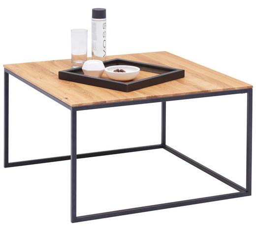 COUCHTISCH in Holz, Metall 70/70/42 cm - Buchefarben/Schwarz, Design, Holz/Metall (70/70/42cm) - Novel