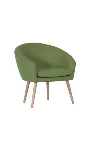 FOTELJ,  svetlo zelena tekstil - naravna/svetlo zelena, Design, tekstil/les (73/73/43/66cm) - Carryhome