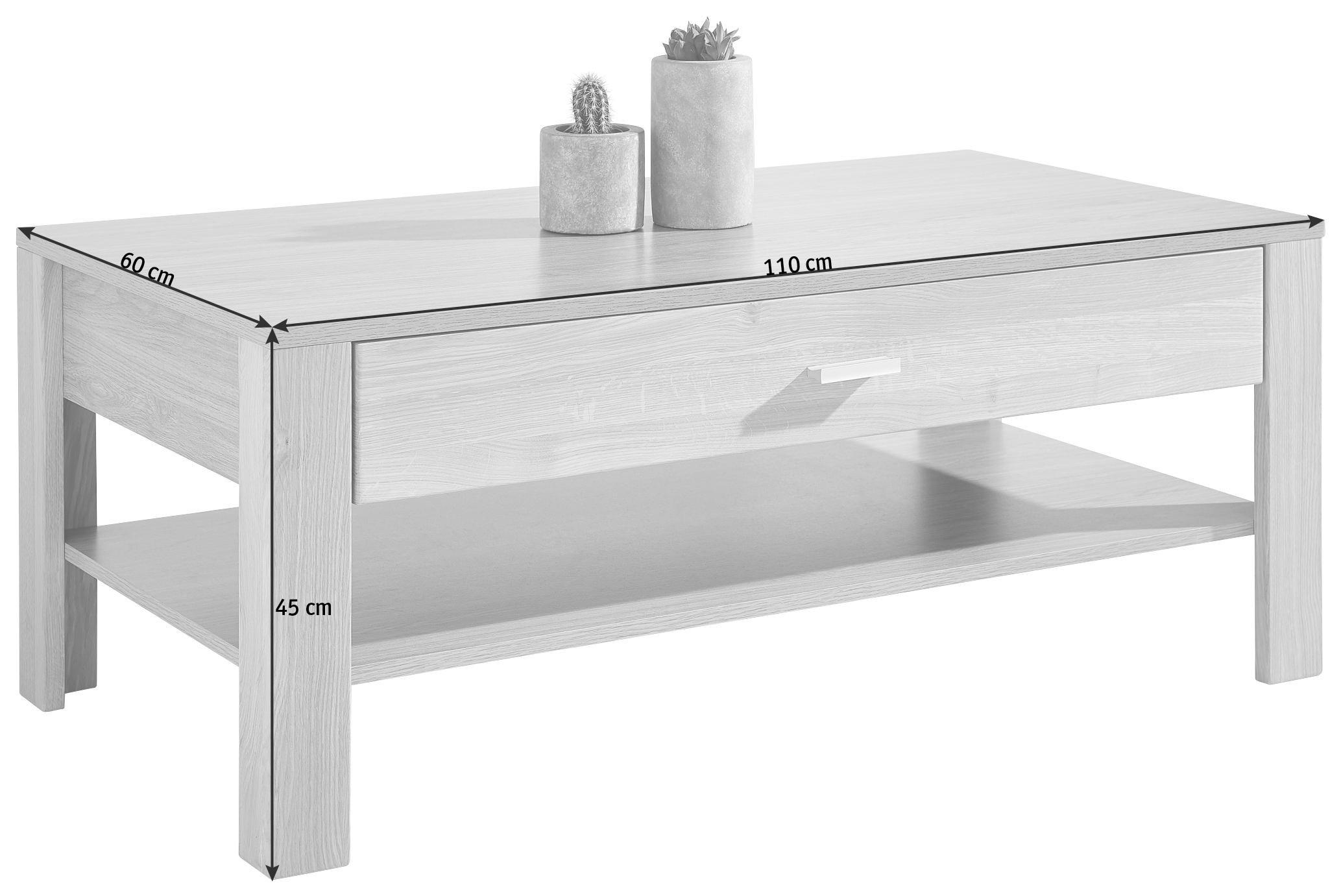 COUCHTISCH in 110/45/60 cm Eichefarben - Eichefarben, Design, Holz/Holzwerkstoff (110/45/60cm) - CARRYHOME