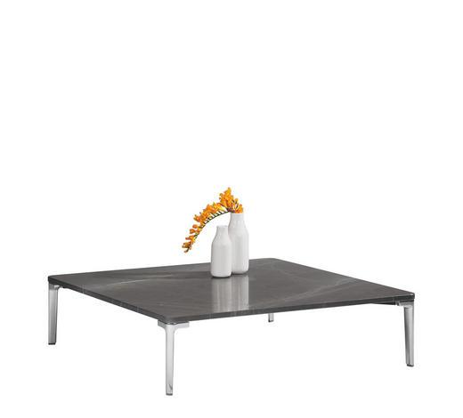 COUCHTISCH rechteckig Braun, Graphitfarben, Alufarben  - Alufarben/Graphitfarben, Design, Stein/Metall (100/100/37cm) - Rolf Benz