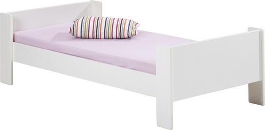 BETT - Weiß, Design, Holz (102/63/206cm) - CARRYHOME