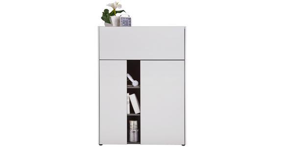 SEKRETÄR Graphitfarben, Weiß - Graphitfarben/Schwarz, Design, Kunststoff (103/141/42cm) - Voleo