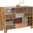 KOMMODE in teilmassiv Mangoholz Multicolor - Multicolor/Braun, Trend, Keramik/Holz (115/80/35cm) - LANDSCAPE