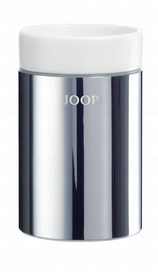 MUNDSPÜLBECHER - Chromfarben/Weiß, Basics, Metall (7/11,5cm) - Joop!