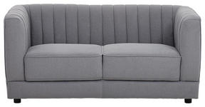 ZWEISITZER-SOFA in Textil Grau  - Schwarz/Grau, Design, Textil/Metall (155/73/80cm) - Xora