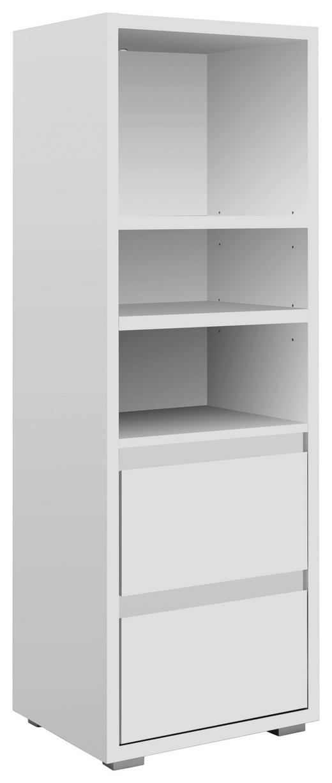 REGALELEMENT Weiß - Silberfarben/Weiß, KONVENTIONELL (45/131/37cm) - Carryhome