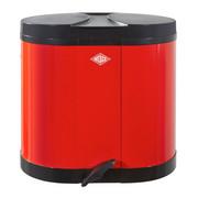 ABFALLSAMMLER 2X15 L  - Rot/Schwarz, Basics, Kunststoff/Metall (34/28,5/28,5cm) - Wesco
