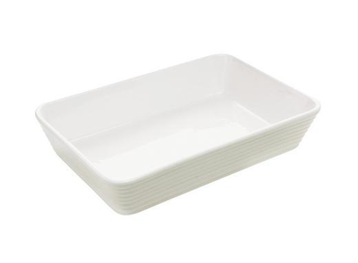 AUFLAUFFORM 29,5/20/6 cm - Weiß, Basics, Keramik (29,5/20/6cm) - Homeware Profession.