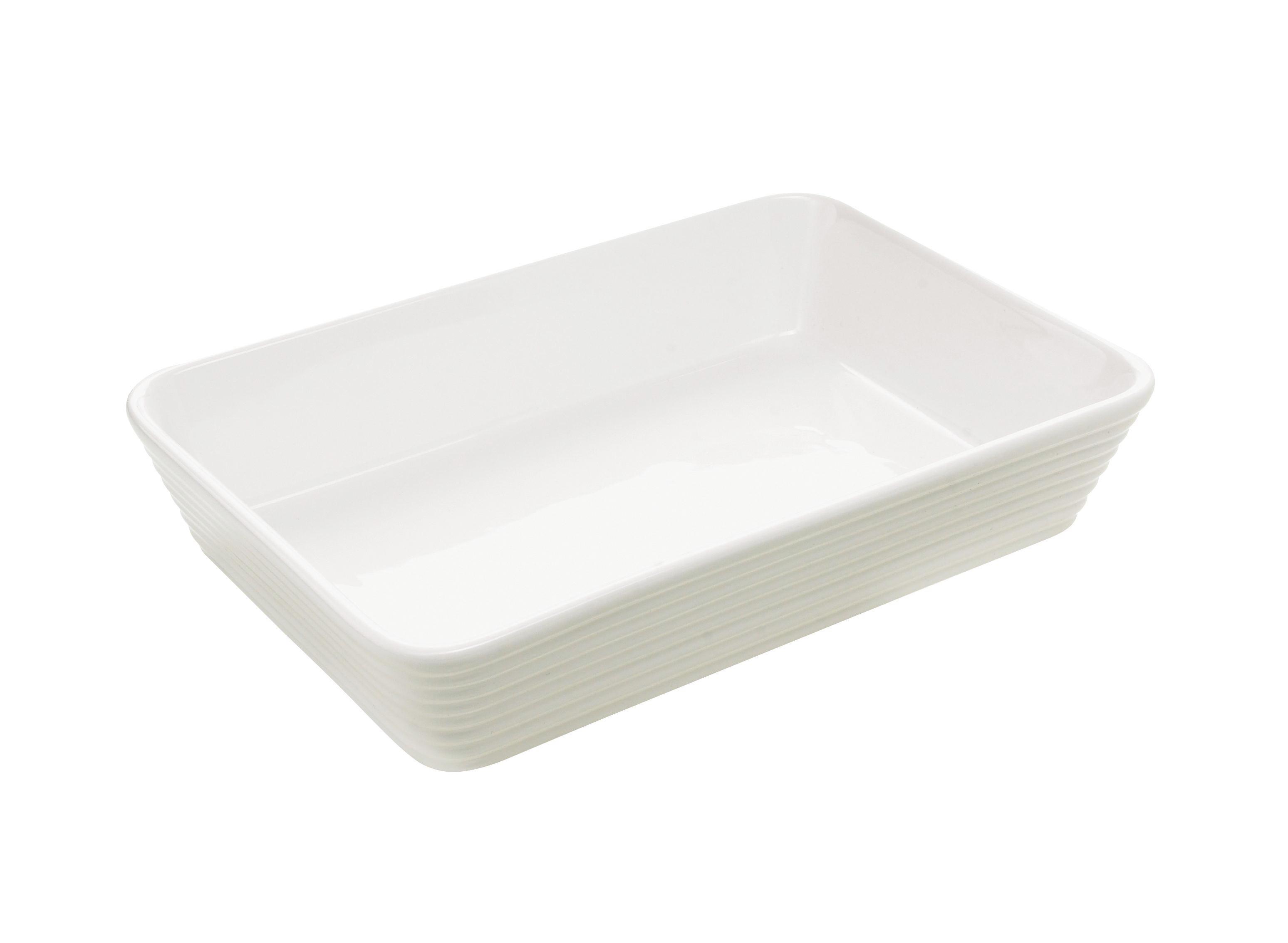 PEKAČ - bela, Konvencionalno, keramika (29,5/20/6cm) - HOMEWARE