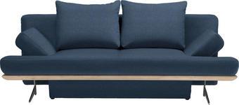 SCHLAFSOFA in Dunkelblau Textil - Chromfarben/Dunkelblau, Design, Textil/Metall (215/96/103cm) - DIETER KNOLL
