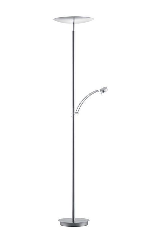 LED-STEHLEUCHTE - Nickelfarben, MODERN, Metall (180cm)