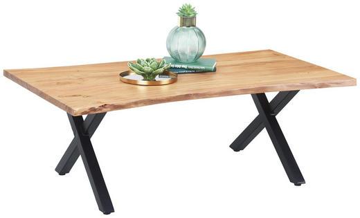 COUCHTISCH in Holz, Metall 115/60/40 cm - Schwarz/Naturfarben, Trend, Holz/Metall (115/60/40cm) - Ambia Home