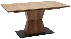 ESSTISCH rechteckig Schwarz, Eichefarben  - Eichefarben/Schwarz, Design (160(200)/90/76cm) - Voleo