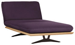 OTTOMANE Violett - Violett/Schwarz, Design, Holz/Textil (114/92/165-218cm) - Dieter Knoll
