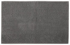 BADEMATTE  50/80 cm  Anthrazit   - Anthrazit, Basics, Kunststoff/Textil (50/80cm) - Boxxx