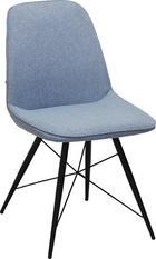 STUHL in Metall, Textil Blau, Schwarz - Blau/Schwarz, Design, Textil/Metall (60/86/58cm) - Carryhome