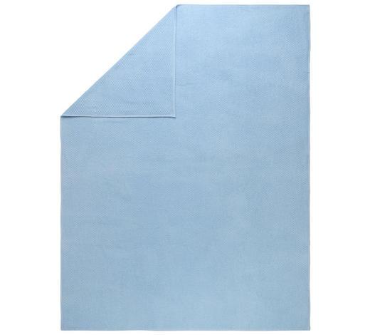 DECKE 150/200 cm - Blau, Basics, Textil (150/200cm) - Boxxx
