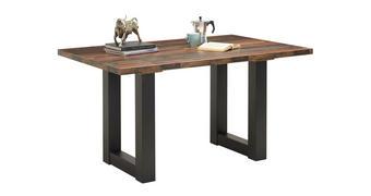 JÍDELNÍ STŮL, černá, barvy dubu - černá/barvy dubu, Konvenční, kompozitní dřevo (140/90/75cm) - Carryhome