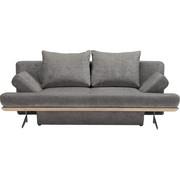 ZOFA S POSTELJNO FUNKCIJO - barve kroma/svetlo siva, Design, kovina/tekstil (215/96/103cm) - DIETER KNOLL