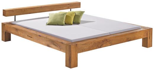 BALKENBETT Wildeiche massiv 180/200 cm - Eichefarben, Design, Holz (180/200cm) - Hasena