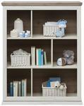 STANDREGAL Grau, Weiß  - Weiß/Grau, Natur, Holzwerkstoff (110/138,8/43cm) - My Baby Lou