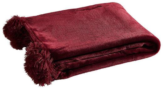 PLAID MIT POMPOM´S Bordeaux - Bordeaux, Trend, Textil (130/170/1cm)