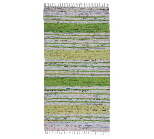 FLECKERLTEPPICH 80/150 cm - Weiß/Grün, KONVENTIONELL, Textil (80/150cm) - Boxxx