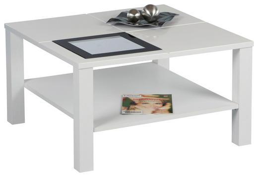 COUCHTISCH quadratisch Schwarz, Weiß - Schwarz/Weiß, Design, Glas (80/45/80cm) - Carryhome