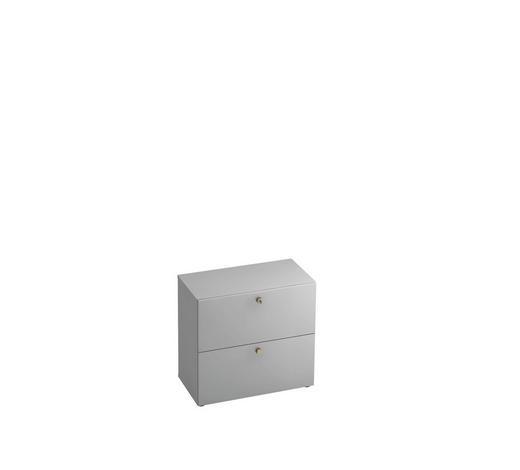 HÄNGEREGISTERELEMENT - Alufarben/Schwarz, KONVENTIONELL, Holzwerkstoff/Kunststoff (80/74,8/42cm)