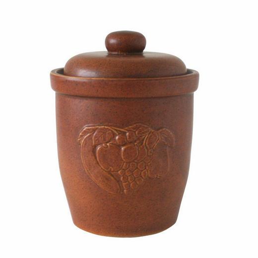 VORRATSTOPF - Braun, Keramik (37cm)