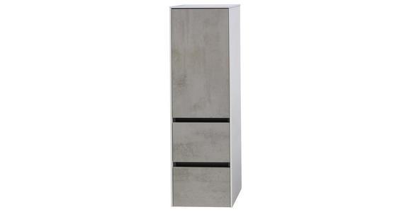 MIDISCHRANK 37/121/33 cm - Hellgrau, Design, Glas/Holzwerkstoff (37/121/33cm) - Dieter Knoll