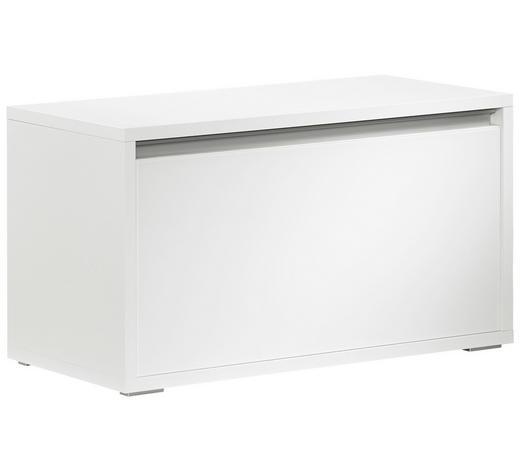GARDEROBENBANK Weiß  - Silberfarben/Weiß, Design, Glas/Kunststoff (91/49/42cm) - Cassando